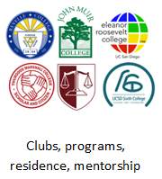Clubs, programs, residence, mentorship.